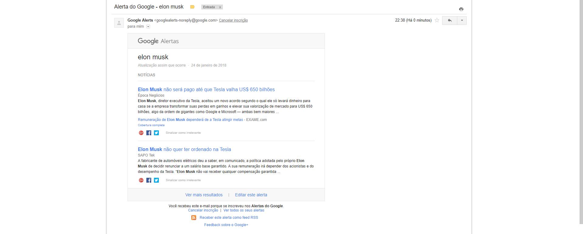 google alerts como ativar