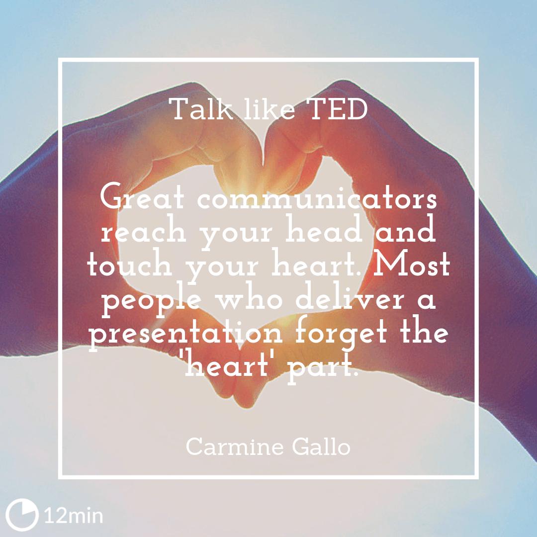 Talk like TED Summary
