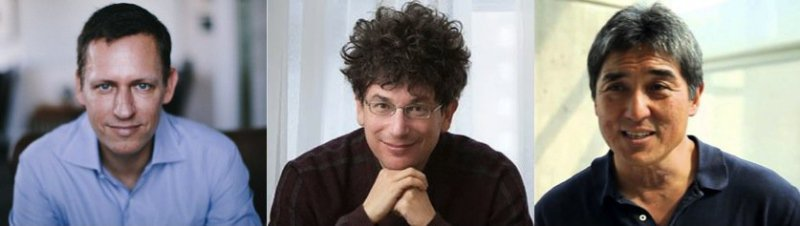 some of my mentors - Peter Thiel, James Altucher, Guy Kawasaki