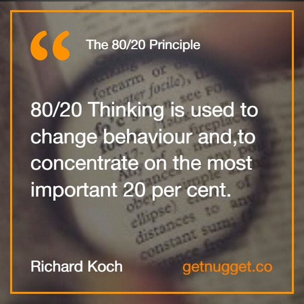 80 20 principle.