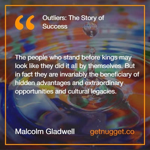 Malcom Gladwell.