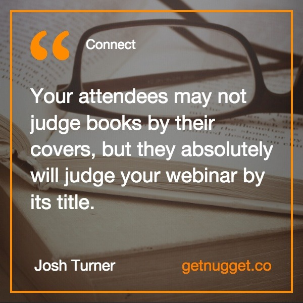 connect webinar title