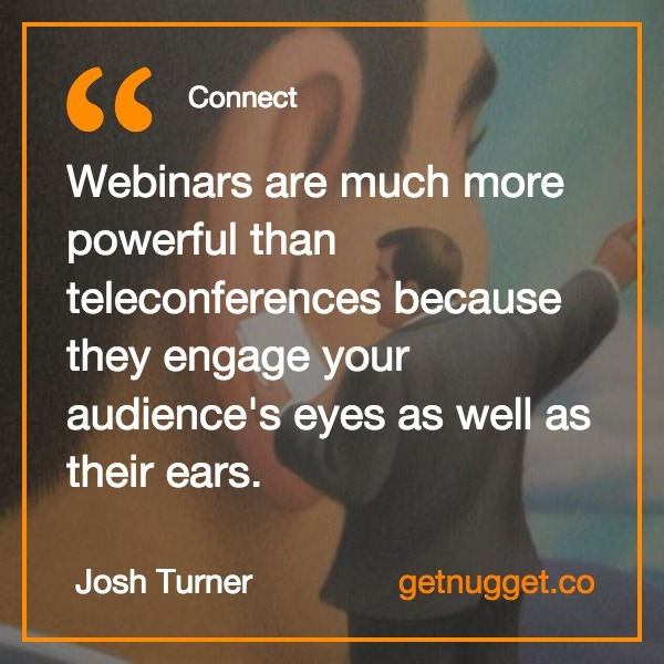 connect webinars