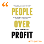 nuggets from people-over-profit-dale-partridge-summary