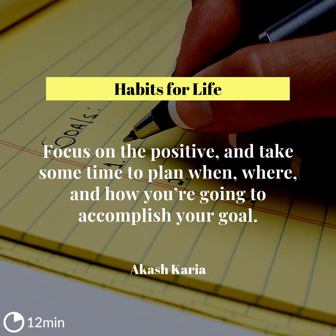 Habits for Life Summary