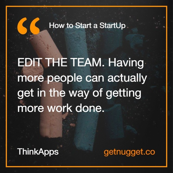 How to start a startup ThinkApps