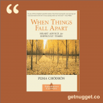 nuggets from When Things Fall Apart: Heart Advice for Difficult Times by Pema Chödrön