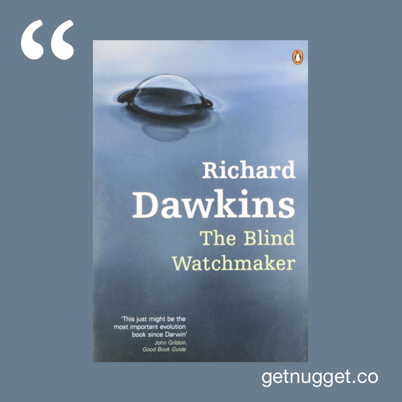 Blind Watchmaker Richard Dawkins cover