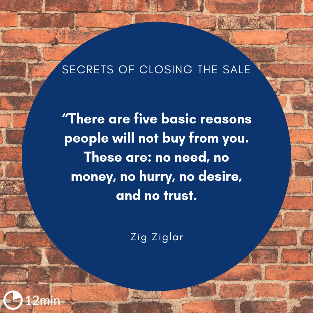 secrets of closing the sale pdf