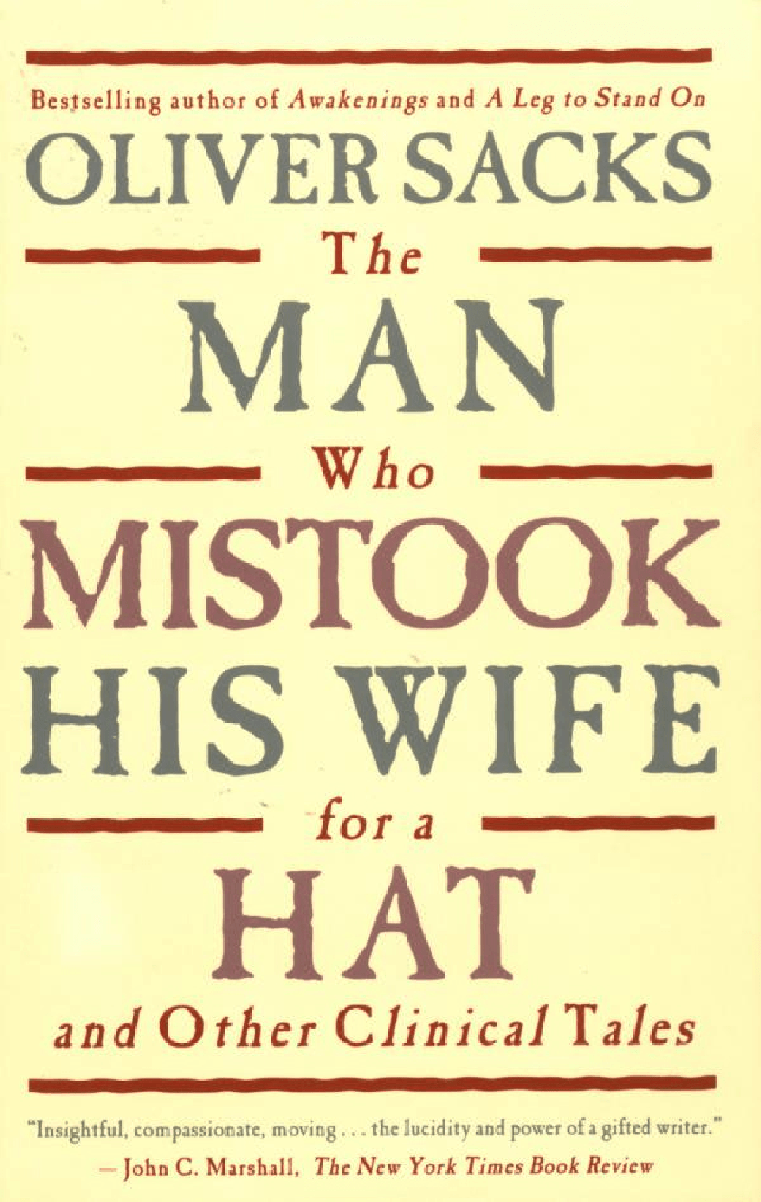 The Man Who Mistook His Wife for a Hat Summary