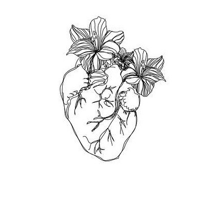 rupi kaur heart flower illustration