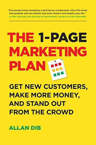 The 1-Page Marketing Plan PDF